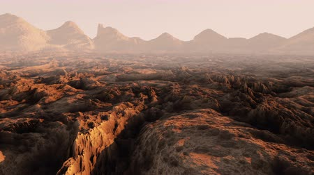 земной : Mars surface, landscape. Aeril view. Realistic animation.