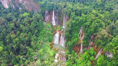 loção : Clip of Tee lor su waterfall in Thailand at the tropical forest , Umphang District, Tak Province, Thailand