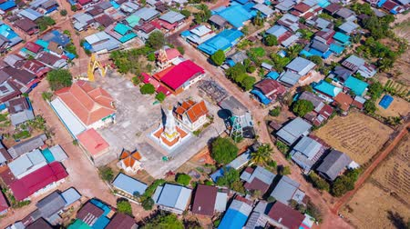 phra : Hyper lapse of Dhat jampa temple in countryside, Nakhon phanom province,Thailand Stock Footage