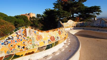 Каталония : Parc Guell - famous park designed by Antoni Gaudi in Barcelona, Catalonia, Spain