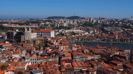stare miasto : View from Torre dos Clerigos - Clerigos Tower in Porto, Portugal