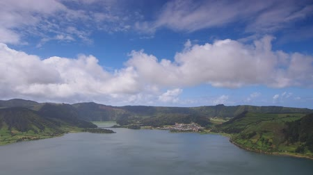 sete : Lagoa das Sete Cidades - Lagoon of the Seven Cities, lake on Sao Miguel Island, Azores, Portugal