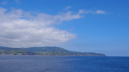 azorean : Faial Island – view from the ferry, Azores, Portugal