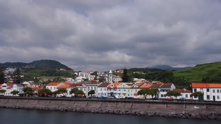 azorean : Cityscape of Horta on Faial Island, Azores, Portugal