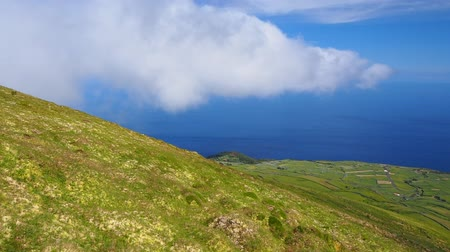 azorean : Two sides of Corvo Island, Azores, Portugal