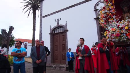 azorean : Procession during Holy Christ festivities in Vila do Porto, Santa Maria, Azores Islands, Portugal