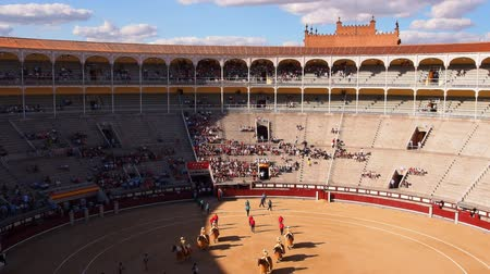 арена : Novillada Picada on Plaza de Toros de Las Ventas – Bullfighting on Bullring in Madrid, Spain