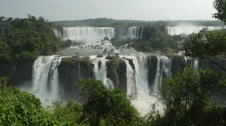 brasil : Brazil, State of Parana, Foz do Iguacu, View of Iguazu Falls.