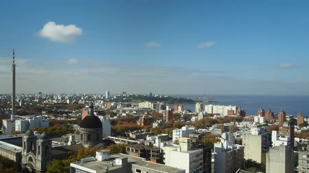 montevideo : Uruguay, Montevideo, Cityscape viewed from the City Hall(Intendencia de Montevideo).