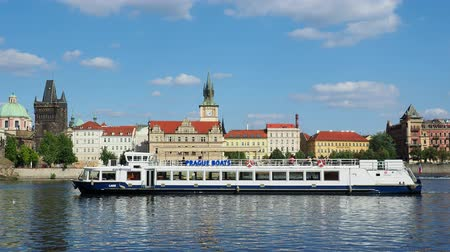 Богемия : Cruise Boat on Vltava River, Prague, Bohemia Region, Czech Republic
