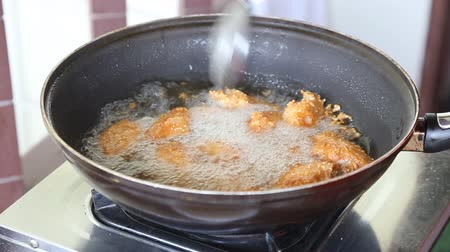 fried chicken in a hot oil
