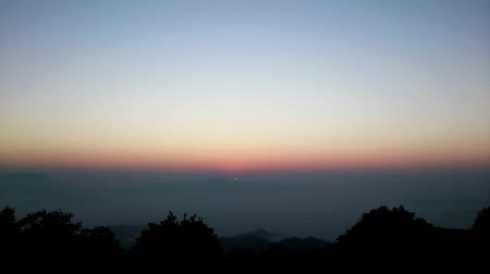 huai : sunrise at Huai Nam Dang National Park Thailand