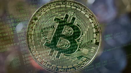 Bitcoin gouden munt. Cryptocurrency