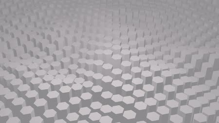 Abstract white texture pattern consisting of hexagons
