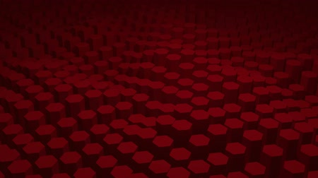 Abstract red texture pattern consisting of hexagons Stockvideo