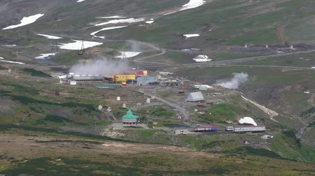 refrigeração : KAMCHATKA PENINSULA, RUSSIA - SEP 12, 2018: Geotherm JSC (PJSC RusHydro) Geotherm JSC (PJSC RusHydro) using geothermal energy to produce electricity.