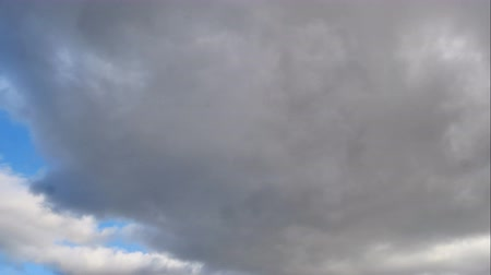 Time lapse 4K vdo of Altostratus or Stratocumulus or Stratus clouds and blue sky.