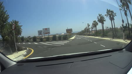 onto : Golf del Sur Tenerife Spain: Driving onto the golf course parking lot