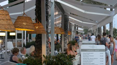 luxe : El Arenal Mallorca Spain: Tourists dining in modern white themed restaurant