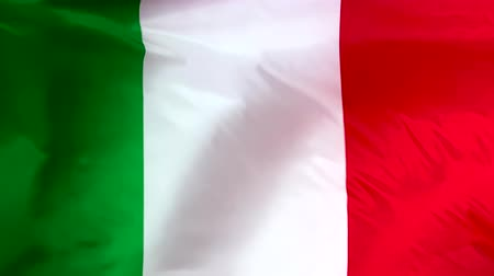 Flag of Italy waving in the wind. Italian flag closeup.