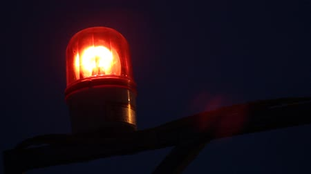 poplach : Red alarm flashing light in the middle of the night, by the fuzzy variable clear.