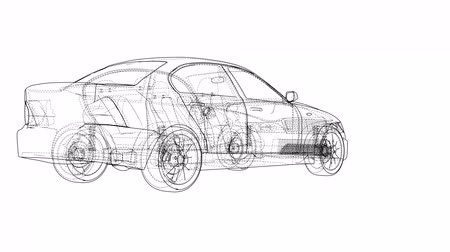 invisible : Concept car blueprint style video