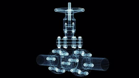 flange : Industrial valve. 3d illustration video