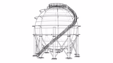 boru hattı : Spherical gas tank outline video