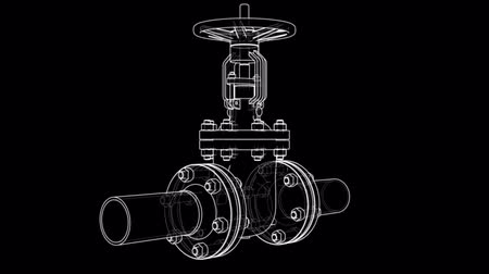 flange : Outline industrial valve