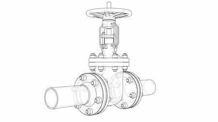 encanador : Outline industrial valve