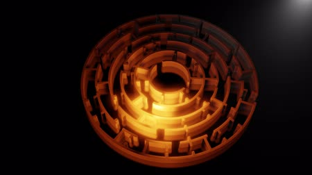 vista de cima : 3D circular maze. Video
