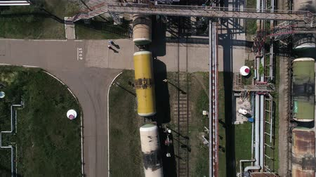 торговый : Flying above industrial railroad station