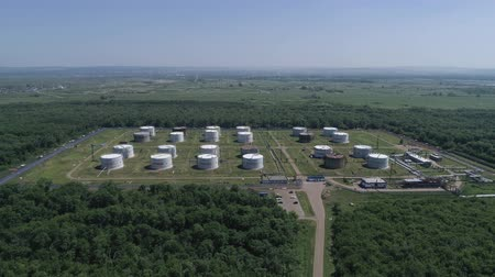 нефтехимический : Liquid chemical tank termina, Aerial view.