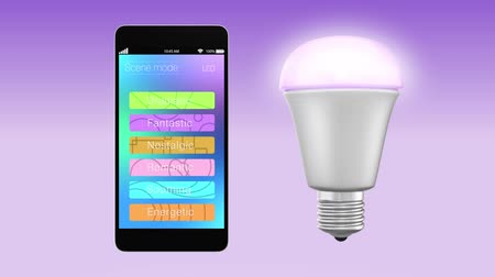 chytrý : Smartphone app controlling LED lighting changing color