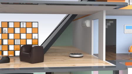 chytrý : Smart house with energy efficient appliances and solar panel
