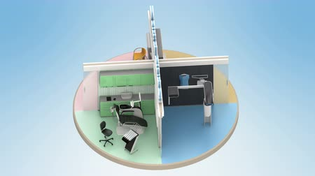 představit si : Looping animation of dental clinic interior