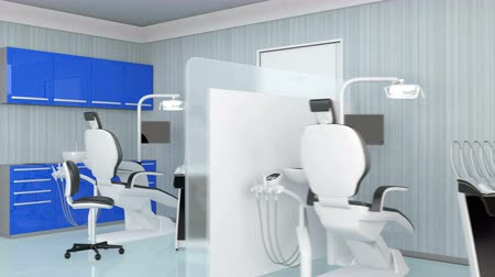 szekrény : Looping animation of dental clinic interior