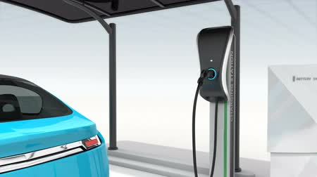 運輸 : Animation of electric vehicle charging station for public space