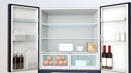 hűtőgép : Smart refrigerator with touch screen. User can manage food or shopping via online shop.