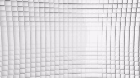 esquerda : A bright white looping animated cubes background.  HD Resolution.  Great for transitions or text and images.