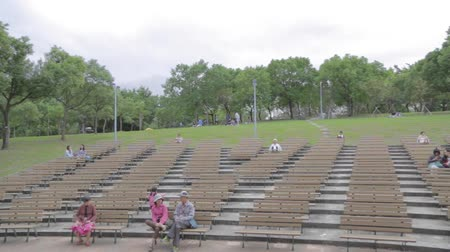 amphitheatre : TAIPEI,TAIWAN - CIRCA October 2014 :Pan of Da-an park of amphitheater