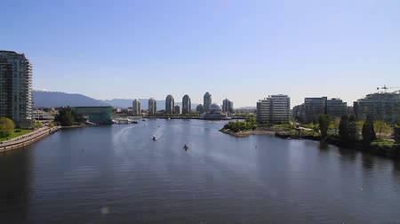 overlooks : VANCOUVER, BRITISH COLUMBIA,CANADA - CIRCA May 2012 :wide aerial - false creek science world