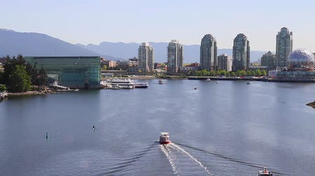 overlooks : VANCOUVER, BRITISH COLUMBIA,CANADA - CIRCA May 2012 :close angle  aerial - false creek science world