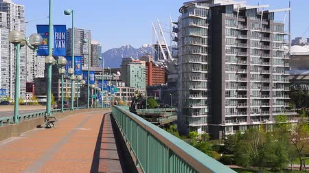 overlooks : VANCOUVER, BRITISH COLUMBIA,CANADA - CIRCA May 2012 :dolly shot - cambie bridge
