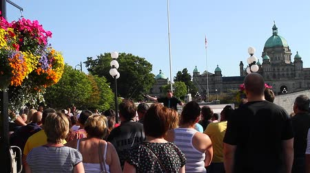scones : VICTORIA, BRITISH COLUMBIA,CANADA - CIRCA May 2012 :live performance -near parliament building