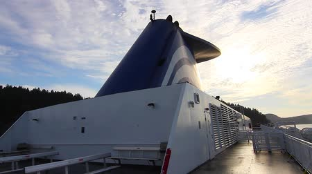 feribot : VICTORIA, BRITISH COLUMBIA,CANADA - CIRCA May 2012 :2 angles view of bc ferry Stok Video