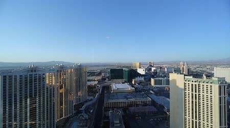 mandalay bay : daytime - penthouse view of mgm grand and surrounding hotels Stock Footage