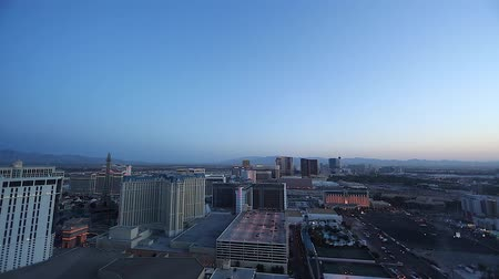 mandalay bay : wide penthouse early evening of las vegas strip