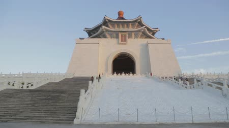 gates : Chiang Kai Shek Memorial hall  - at footsteps sunset