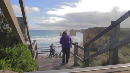 campbell : MELBOURNE,AUSTRALIA - CIRCA May 2013 :2 shots of the 12 apostles - cinematic dolly shot and low angle